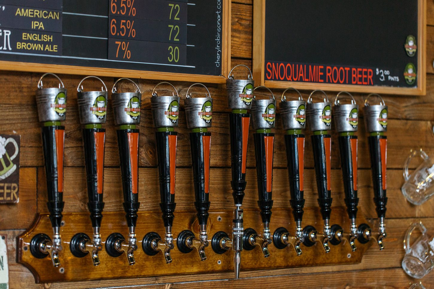 Brewery tap handles